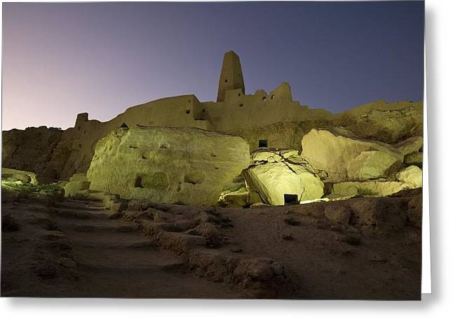 Ancient Ruins Greeting Cards - The Temple Of The Oracle, Siwa Oasis Greeting Card by Deddeda