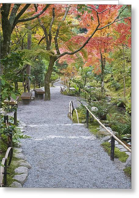 Kyoto Greeting Cards - The Tenruyuji Temple Is A Zen Buddist Greeting Card by Rob Tilley