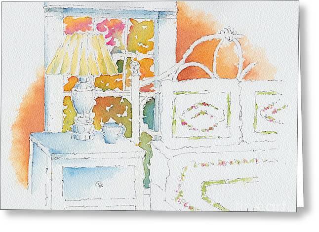 The Terra Cotta Room Greeting Card by Pat Katz