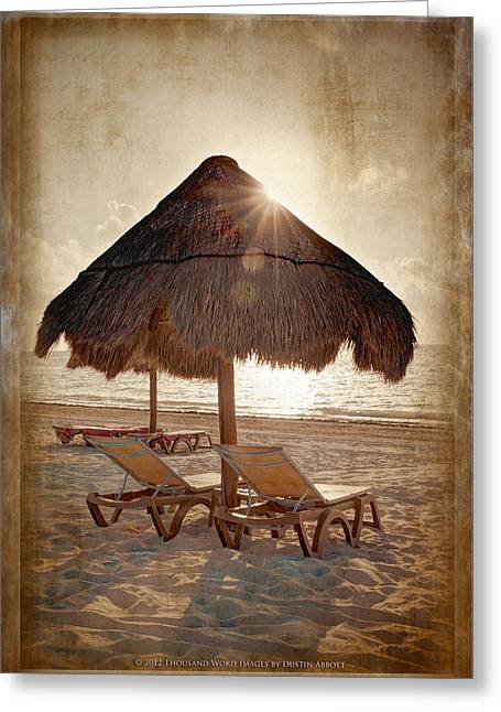 Kim Klassen Texture Greeting Cards - The Texture of Paradise Greeting Card by Dustin Abbott
