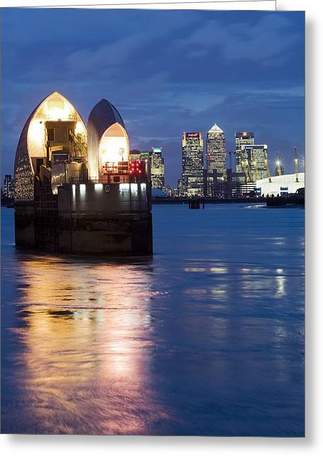 River Flooding Greeting Cards - The Thames Flood Barrier Greeting Card by Jeremy Walker