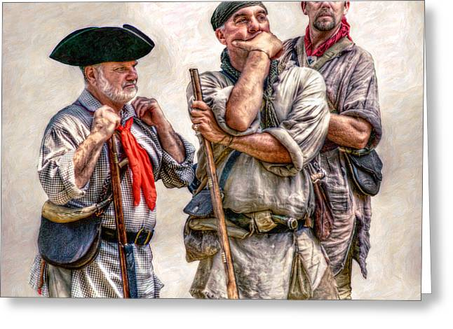 Militaria Greeting Cards - The Three Frontiersmen  Greeting Card by Randy Steele