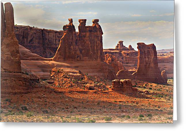 Marty Koch Greeting Cards - The Three Gossips Greeting Card by Marty Koch