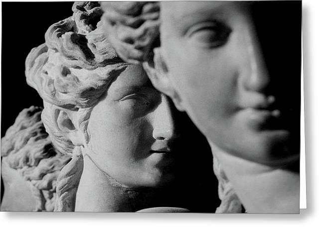 Face Of A Woman Greeting Cards - The Three Graces Greeting Card by Roman School