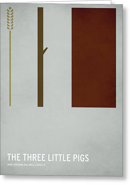 Digital Art Greeting Cards - The Three Little Pigs Greeting Card by Christian Jackson