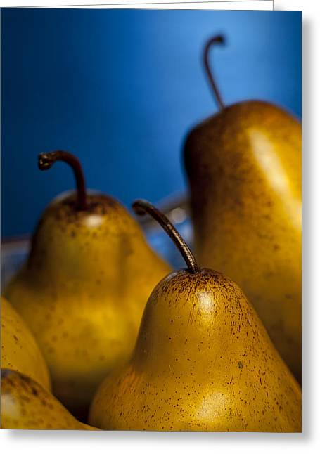 """indoor"" Still Life Photographs Greeting Cards - The Three Pears Greeting Card by Scott Norris"