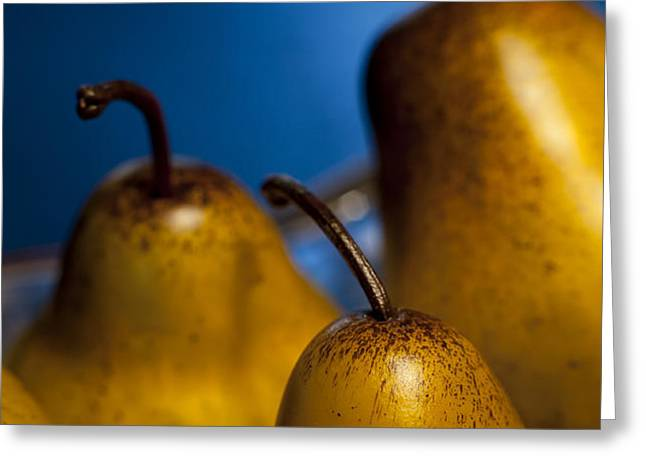 The Three Pears Greeting Card by Scott Norris