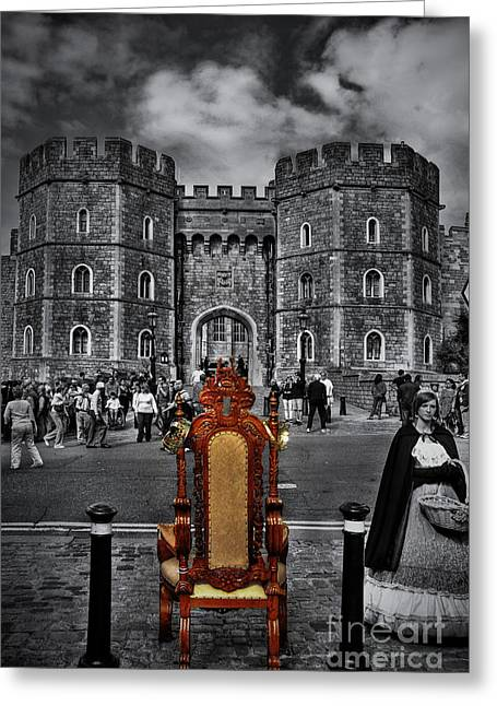 Windsor Chair Greeting Cards - The Throne Greeting Card by Yhun Suarez