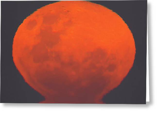 Moonrise Greeting Cards - The Thunders Moon Rising Over Rio De La Greeting Card by Luis Argerich