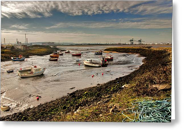 The Tide Is Out. Greeting Card by Trevor Kersley