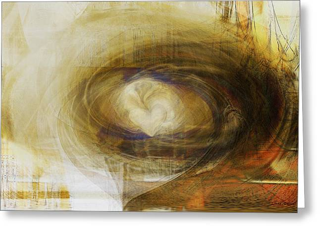 Abstract Expression Greeting Cards - The Tide of the Heart Greeting Card by Linda Sannuti