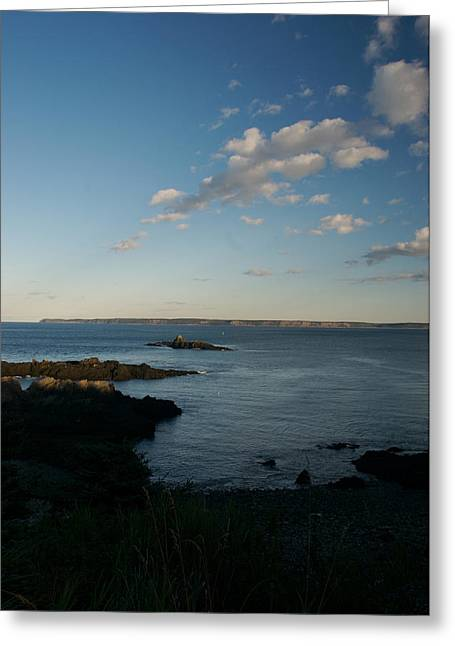 Lubec Greeting Cards - The Tide Recedes From A Rocky Maine Greeting Card by Heather Perry