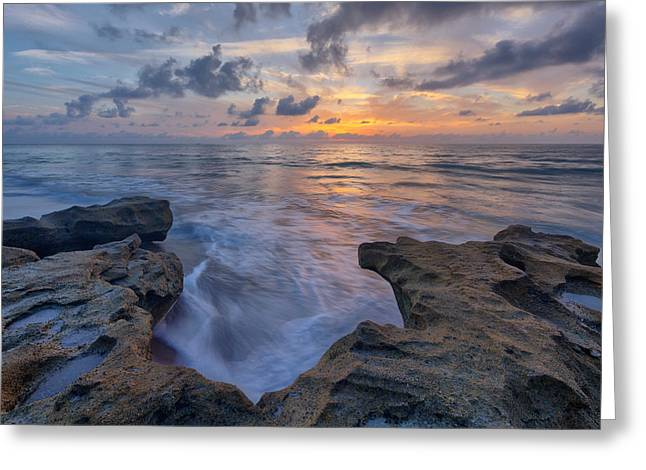 Claudia Domenig Greeting Cards - The Tide Rushes In Greeting Card by Claudia Domenig