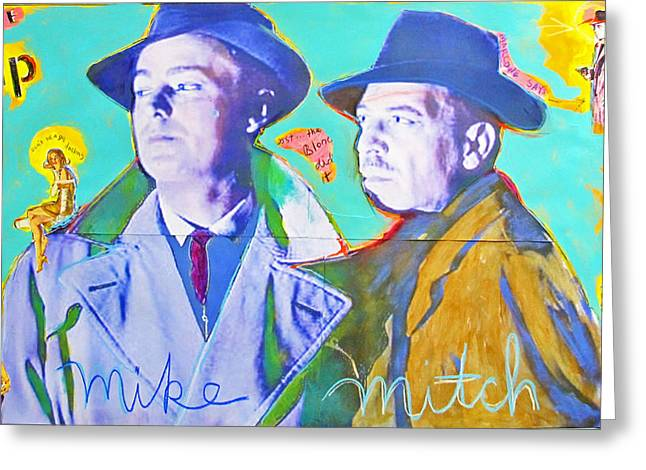 Film Noir Mixed Media Greeting Cards - The Tip Off Greeting Card by Mike  Mitch