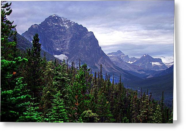 Vale Greeting Cards - The Tonquin Valley Greeting Card by George Cousins