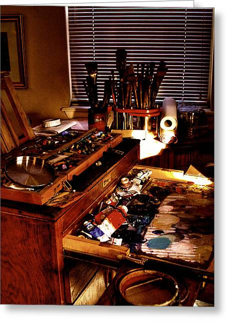 Pastel Palette Greeting Cards - The Tools of an Artist Greeting Card by David Patterson