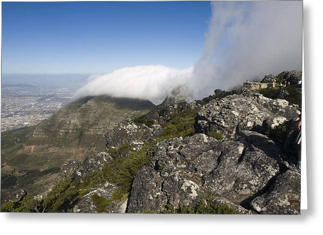 Cape Town Greeting Cards - The Top Of The Famous Table Mountain Greeting Card by Stacy Gold