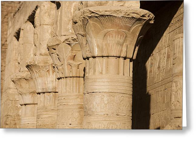 Horus Greeting Cards - The Tops Of The Pillars Of The Temple Greeting Card by Taylor S. Kennedy