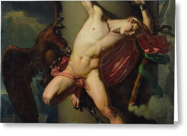 The Torture of Prometheus Greeting Card by Jean-Louis-Cesar Lair