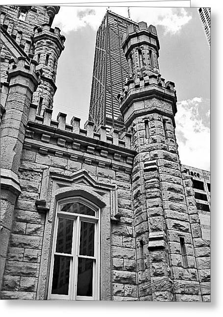 Old Chicago Water Tower Greeting Cards - The Tower Greeting Card by Todd Reinert
