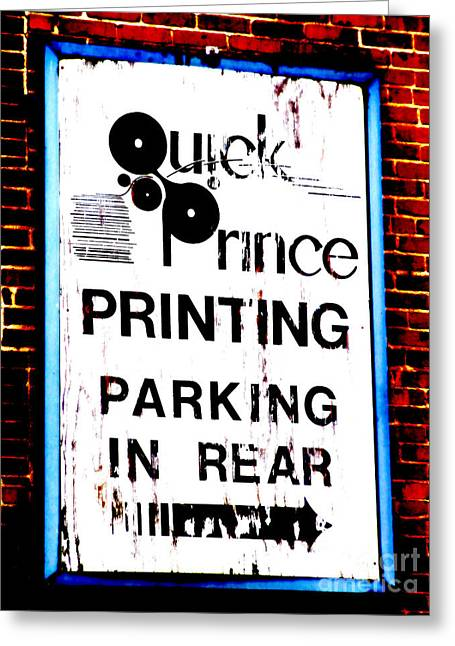 Old Roadway Greeting Cards - The Town Printer Greeting Card by Lj Lambert