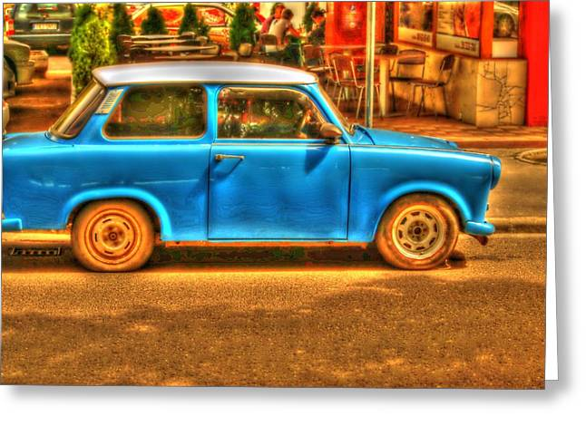Vw Beetle Pyrography Greeting Cards - The Trabant Greeting Card by Cezary Jawor
