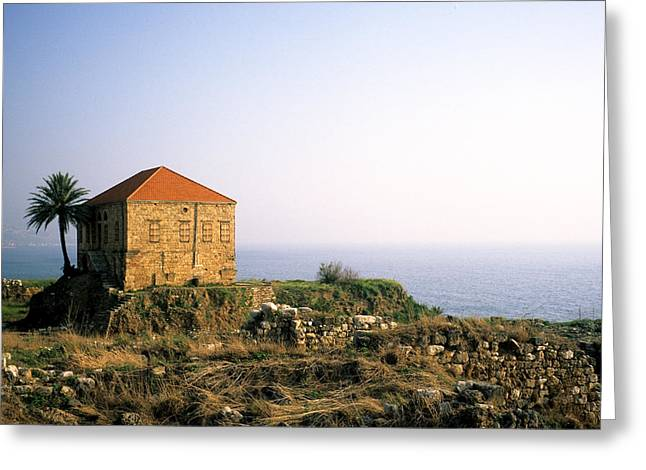 Osten Greeting Cards - The Traditional House Greeting Card by Tarek Charara