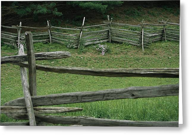 Cooperstown Greeting Cards - The Traditional Split-rail Fence Seen Greeting Card by Stephen St. John