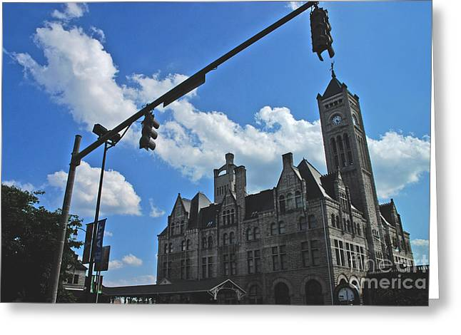 Nashville Buildings Greeting Cards - The Trainstation Nashville Greeting Card by Susanne Van Hulst