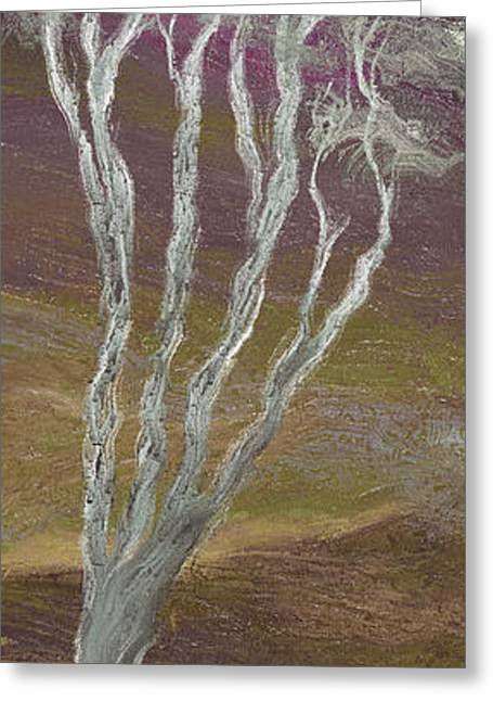 Light And Dark Greeting Cards - The Tree and the Moon - C Greeting Card by Linda Cornelius
