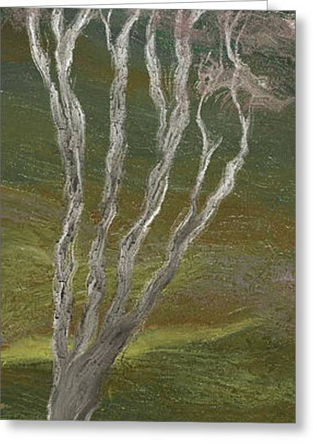 Light And Dark Greeting Cards - The Tree and the Moon - D Greeting Card by Linda Cornelius
