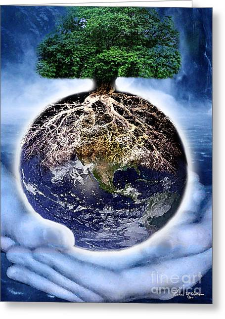 Grounding Greeting Cards - The Tree of Life Greeting Card by Leanne M Williams