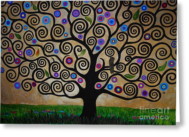 Samantha Greeting Cards - The Tree Of Life Greeting Card by Samantha Black