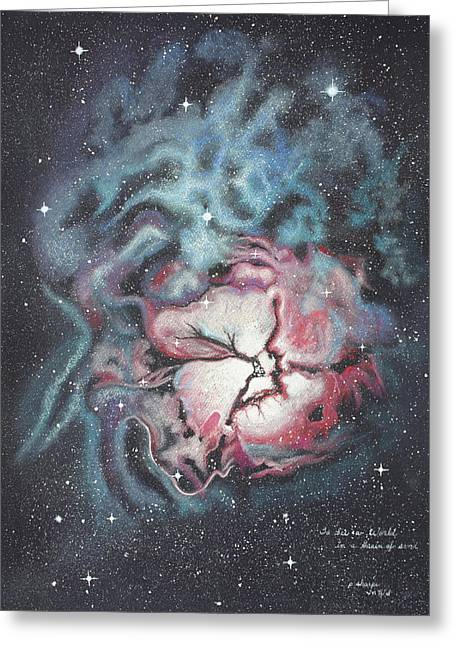 Beyond The Solar System Greeting Cards - The Trifid Nebula Greeting Card by Patsy Sharpe