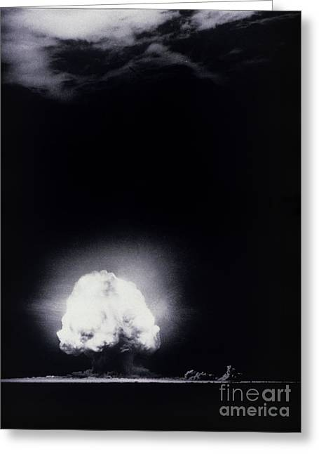 Atom Bomb Greeting Cards - The Trinity Test, The First Atomic Greeting Card by Los Alamos National Laboratory