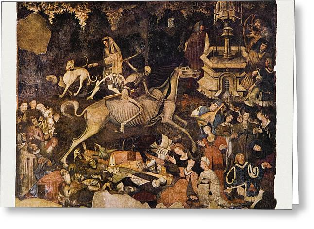 Historical Images Greeting Cards - The Triumph Of Death, Medieval Fresco Greeting Card by Mehau Kulyk