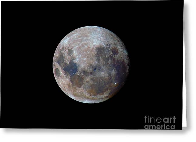 Mare Serenitatis Greeting Cards - The True Colors Of The Moon Greeting Card by Luis Argerich