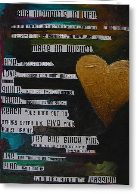 Aha Greeting Cards - The Truth Is Greeting Card by Patti Schermerhorn