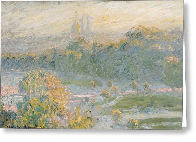 Sketch Greeting Cards - The Tuileries Greeting Card by Claude Monet