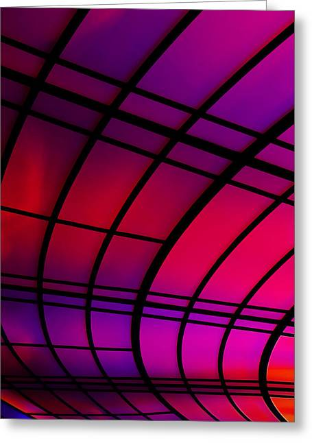 Purple Greeting Cards - The Tunnel Greeting Card by Metro DC Photography
