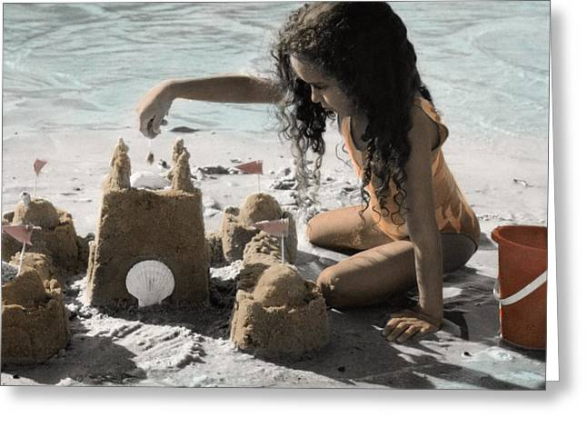 Sand Castles Greeting Cards - The Twelve Gifts of Birth - Imagination 1 Greeting Card by Jill Reger