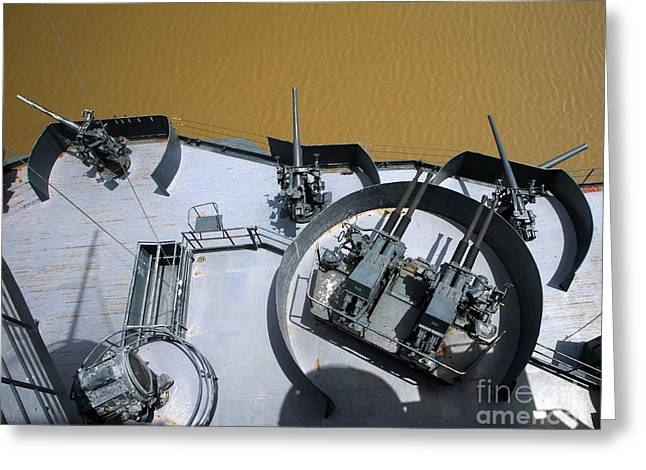 The Twin Bofors 40mm Anti-aircraft Greeting Card by Michael Wood