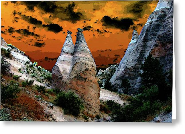 Tent Rocks Canyon Greeting Cards - The Two Frenchmen Greeting Card by David Lee Thompson