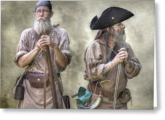 Citizens Greeting Cards - The Two Frontiersmen  Greeting Card by Randy Steele