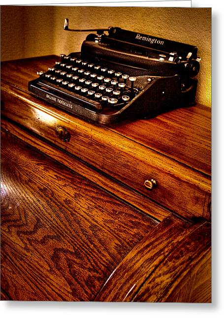 Typewriter Greeting Cards - The Typewriter Greeting Card by David Patterson
