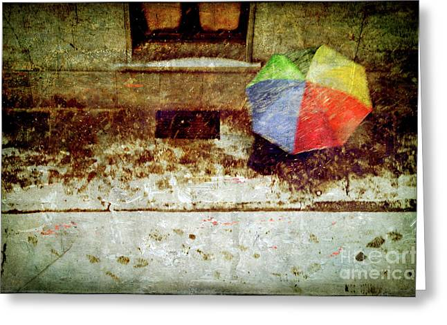 Umbrellas Greeting Cards - The umbrella Greeting Card by Silvia Ganora