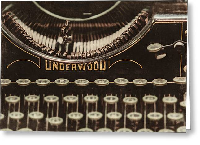 Typewriter Greeting Cards - The Underwood Greeting Card by Lisa Russo