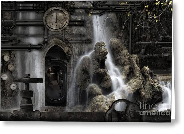 Geothermal Greeting Cards - The Underworld Greeting Card by Keith Kapple