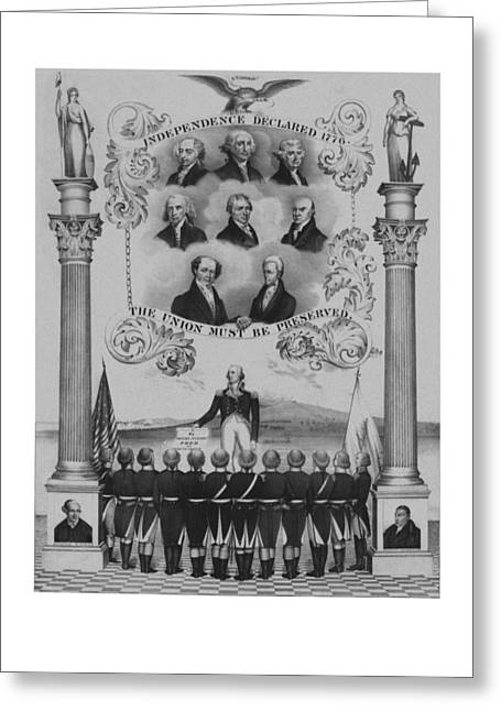 President Adams Greeting Cards - The Union Must Be Preserved Greeting Card by War Is Hell Store
