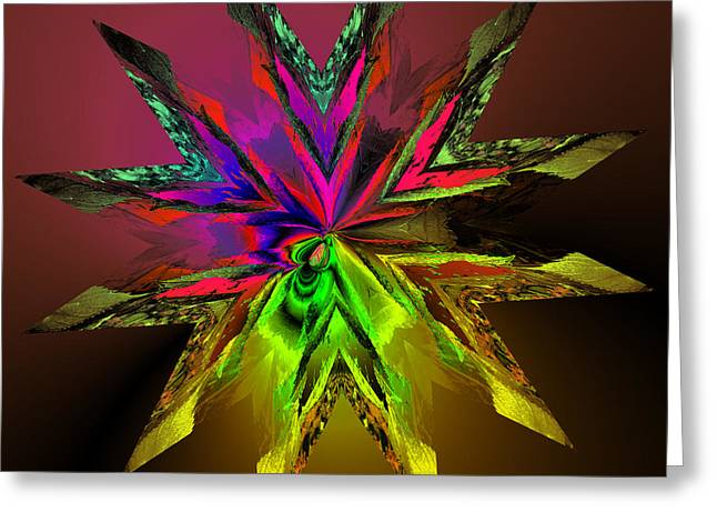 Generative Abstract Photographs Greeting Cards - The union of math color and nature Greeting Card by Claude McCoy